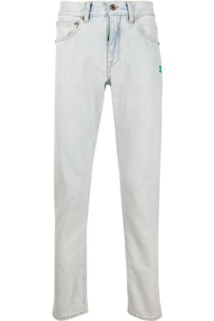 OFF-WHITE SLIM JEANS BLEACH MINT