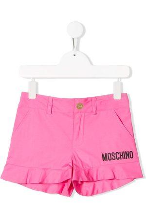 Moschino Niña Shorts - Shorts con detalles del logo