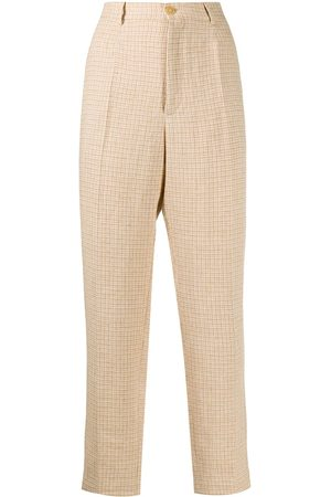 FORTE FORTE Check print trousers