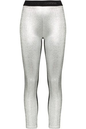 Paco Rabanne Mujer Leggings y treggings - Leggins con logo en la pretina
