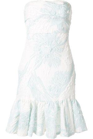 Bambah Vestido strapless con estampado floral