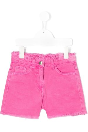 MONNALISA Frayed edge fitted shorts