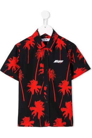 Msgm Camisas - Camisa con estampado de palmeras