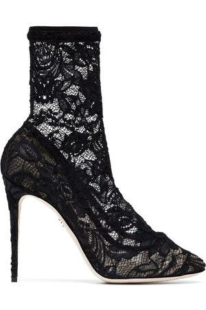 Dolce & Gabbana Botas de encaje con tacón 105