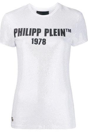 Philipp Plein Mujer Playeras - Camiseta slim con apliques TM