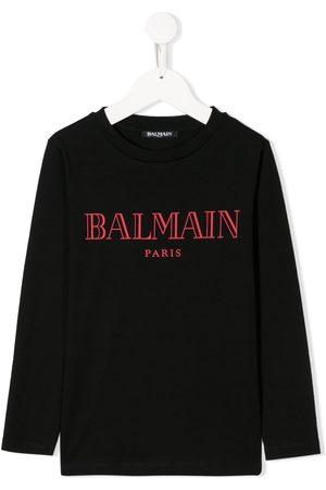 Balmain Kids Long sleeve logo print T-shirt