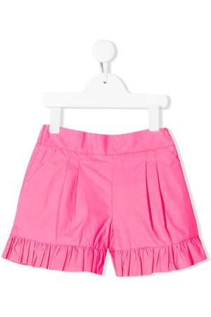 Msgm Kids Ruffle trimmed shorts