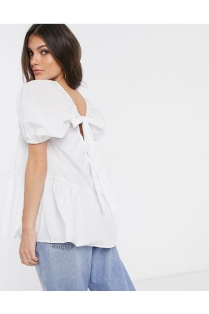 ASOS Tiered top in cotton