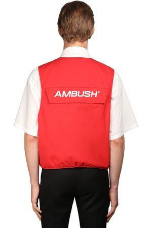 AMBUSH Logo Multi-pocket Cotton Utility Vest