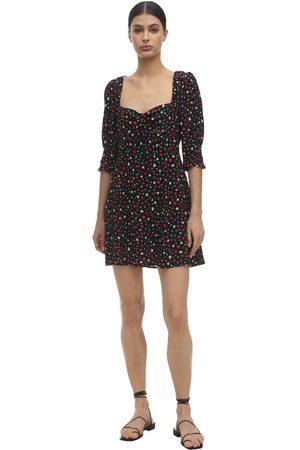RIXO London Larissa Printed Silk Blend Mini Dress