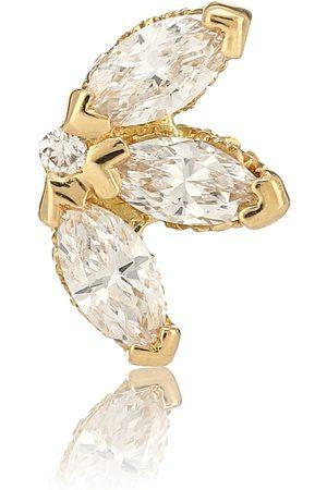 Maria Tash Lotus 18kt yellow gold single earring with diamonds