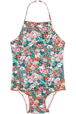 Caramel Primrose floral swimsuit