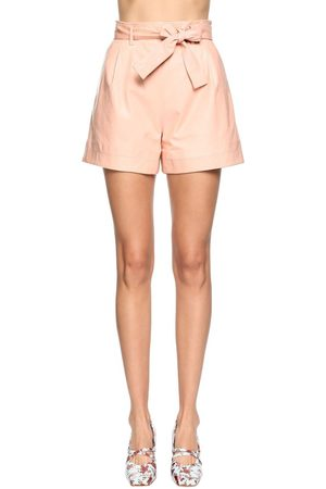 DROME High Waist Leather Shorts