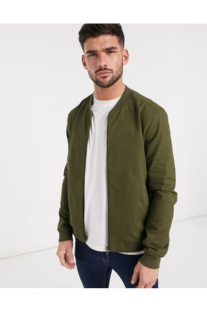 New Look Lightweight cotton bomber jacket in khaki