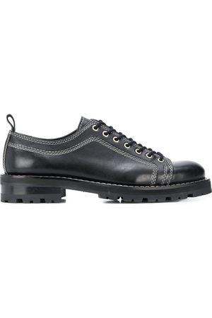 Ami Zapatos derby con costura en contraste