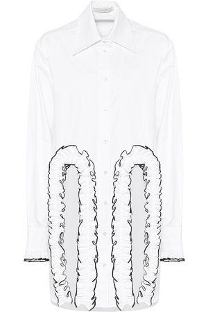 Christopher Kane Frilled cotton poplin shirt