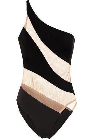 Norma Kamali Snake mesh swimsuit