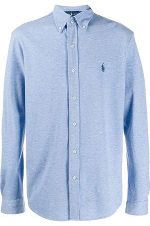 Ralph Lauren Camisa con logo bordado y botones