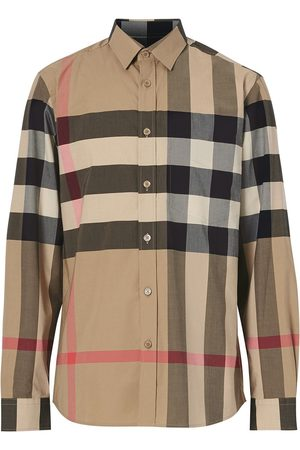 Burberry Camisa oversize con motivo de cuadros