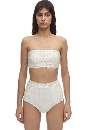 Peony Mujer Bikinis - Wicker Bandeau Bikini Top