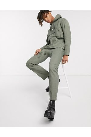 Sacred Hawk Relaxed drill trousers in grey