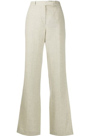 Etro Textured front pleated trousers