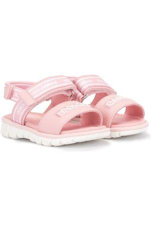 Dolce & Gabbana Touch-strap logo sandals