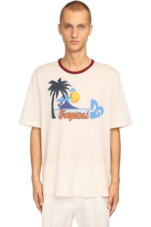 Dolce & Gabbana Camiseta De Algodón Jersey Con Estampado