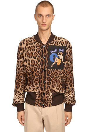 Dolce & Gabbana Bomber Con Estampado Animal Y Parche