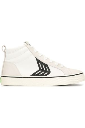 CARIUMA Mujer Tenis - CATIBA high stripe off white suede and canvas and black logo sneakers