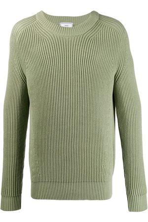 Ami Suéter tejido de canalé con cuello de tortuga