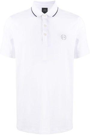 Armani Playera tipo polo con logo bordado