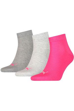 PUMA Calcetines Quarter Plain 3 Pares EU 39-42 Middle Grey Melange / Pink