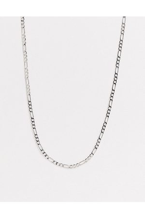 DesignB London DesignB skinny figaro neck chain in silver