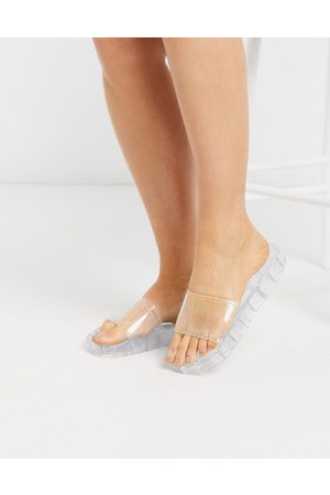 ASOS Frost pool slider in clear