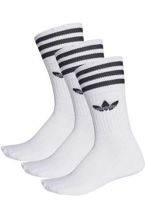 adidas Solid Crew Socks EU 27-30 white / black