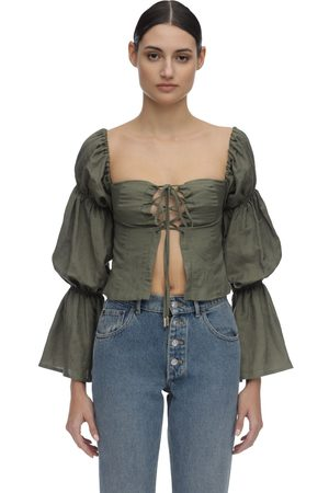 Cult Gaia Mujer Camisas - Claire Draped Linen Shirt