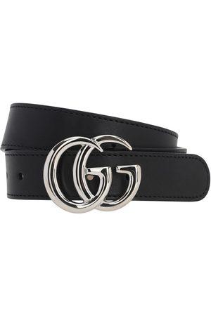Gucci Cinturón De Piel Con Logo