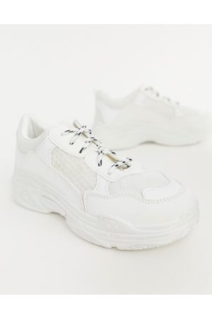 Public Desire Mujer Tenis - Fiyah chunky trainers in white