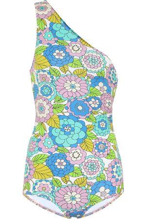 DODO BAR OR Floral one-shoulder swimsuit