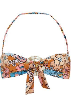 DODO BAR OR Floral halterneck bikini top