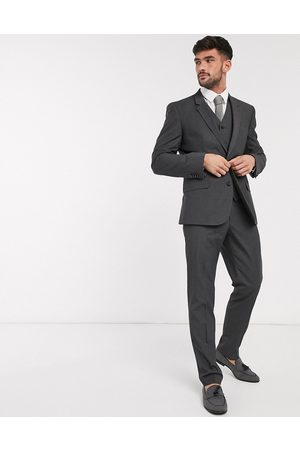 ASOS DESIGN Slim suit trousers in charcoal