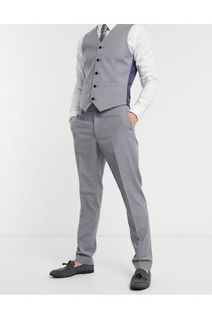 ASOS DESIGN Slim suit trousers in mid grey