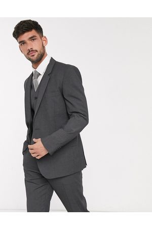 ASOS Slim suit jacket in charcoal
