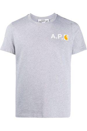 A.P.C Camiseta con logo de manga corta