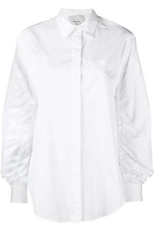 3.1 Phillip Lim Camisa fruncida con manga larga
