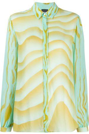 Roberto Cavalli Camisa holgada con estampado ondulado