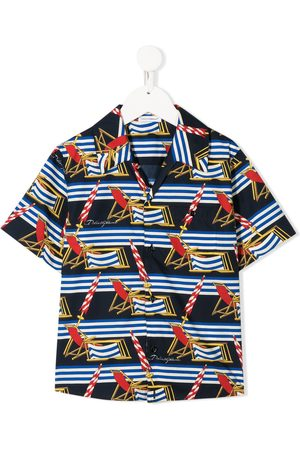 Dolce & Gabbana Beach scene-print short sleeved shirt