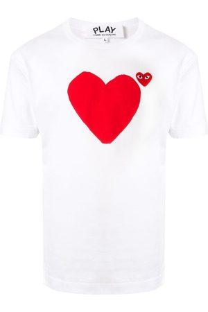 Comme des Garçons Camiseta con estampado de logo y corazón