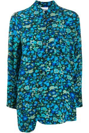 Ganni Mujer Estampados - Vestido asimétrico con estampado floral